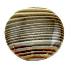 Natural 21.30cts striped flint ohio grey 22x22 mm round loose gemstone s23213