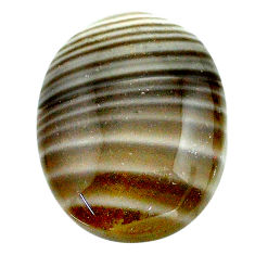 Natural 18.10cts striped flint ohio grey 23x17.5 mm oval loose gemstone s23210