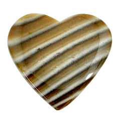 Natural 17.40cts striped flint ohio grey 24x23.5 mm heart loose gemstone s24470