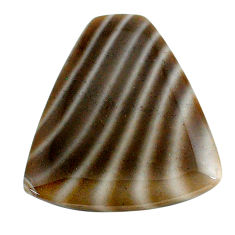Natural 22.05cts striped flint ohio grey 27.5x25.5mm fancy loose gemstone s24498