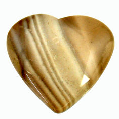 Natural 26.30cts striped flint ohio grey 27x25.5 mm heart loose gemstone s17347