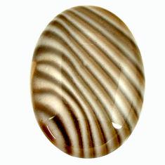 striped flint ohio grey 28x20 mm oval loose gemstone s17337