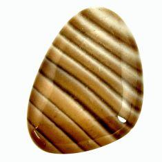 striped flint ohio grey 29x20 mm fancy loose gemstone s17322