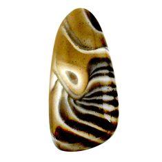 Natural 27.35cts striped flint ohio grey 37x16.5 mm fancy loose gemstone s24495