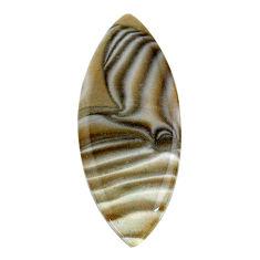 Natural 24.45cts striped flint ohio grey 42.5x17 mm loose gemstone s24494
