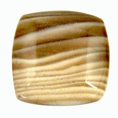 Natural 17.40cts striped flint ohio grey cabochon 20x20 mm loose gemstone s17343