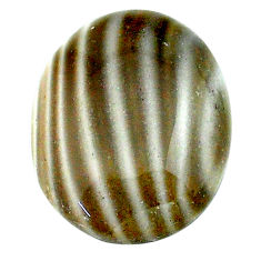 Natural 15.15cts striped flint ohio grey cabochon 21x16 mm loose gemstone s23216