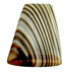 Natural 18.10cts striped flint ohio grey cabochon 23x18 mm loose gemstone s23206