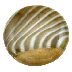 Natural 24.35cts striped flint ohio grey cabochon 23x23 mm loose gemstone s23182
