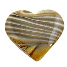 Natural 18.10cts striped flint ohio grey cabochon 24x21 mm loose gemstone s24466