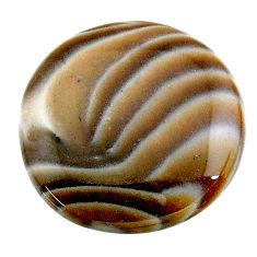 Natural 23.40cts striped flint ohio grey cabochon 24x24 mm loose gemstone s24491