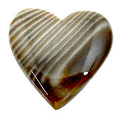 Natural 24.35cts striped flint ohio grey cabochon 25x24 mm loose gemstone s24469