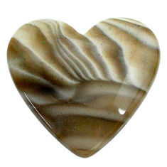 Natural 23.05cts striped flint ohio grey cabochon 25x24 mm loose gemstone s24474
