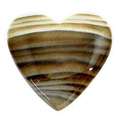 Natural 26.20cts striped flint ohio grey cabochon 26x25 mm loose gemstone s24472