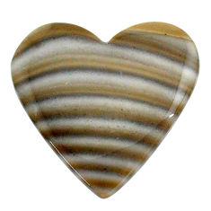 Natural 23.35cts striped flint ohio grey cabochon 26x26 mm loose gemstone s24471