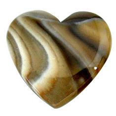 Natural 27.40cts striped flint ohio grey cabochon 26x26 mm loose gemstone s24475