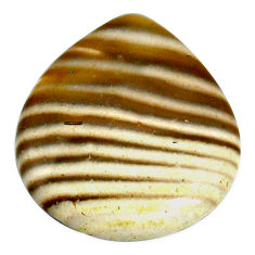 Natural 23.15cts striped flint ohio grey cabochon 27x24 mm loose gemstone s22372