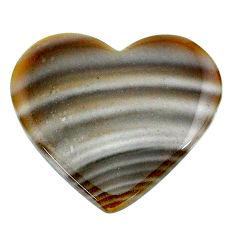 Natural 16.30cts striped flint ohio grey cabochon 27x24 mm loose gemstone s24464
