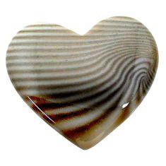 Natural 24.15cts striped flint ohio grey cabochon 27x24 mm loose gemstone s24468