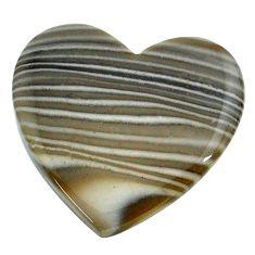 Natural 22.40cts striped flint ohio grey cabochon 27x25 mm loose gemstone s24473