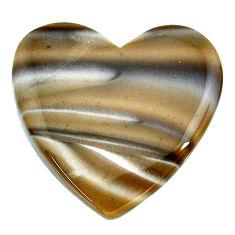 Natural 25.10cts striped flint ohio grey cabochon 27x26 mm loose gemstone s24480