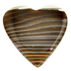 Natural 27.45cts striped flint ohio grey cabochon 27x27 mm loose gemstone s24467