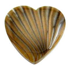 Natural 24.45cts striped flint ohio grey cabochon 27x27 mm loose gemstone s24477