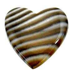 Natural 30.15cts striped flint ohio grey cabochon 27x27 mm loose gemstone s24479