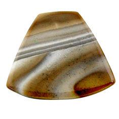 Natural 16.20cts striped flint ohio grey cabochon 28x25 mm loose gemstone s24499