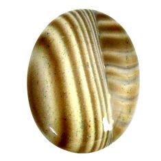 Natural 27.35cts striped flint ohio grey cabochon 29x21 mm loose gemstone s22377
