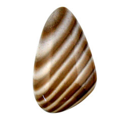 Natural 22.40cts striped flint ohio grey cabochon 30x17 mm loose gemstone s19285