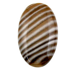 Natural 23.10cts striped flint ohio grey cabochon 30x17 mm loose gemstone s19295