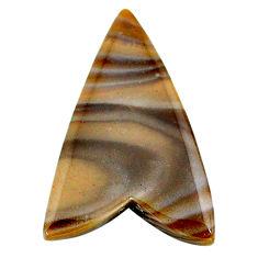 Natural 23.05cts striped flint ohio grey cabochon 33x22 mm loose gemstone s24462