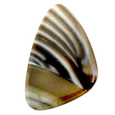 Natural 21.20cts striped flint ohio grey cabochon 35x21 mm loose gemstone s24500