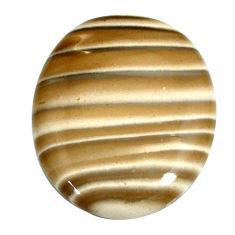 Natural 54.45cts striped flint ohio grey cabochon 35x29 mm loose gemstone s22378