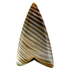 Natural 20.10cts striped flint ohio grey cabochon 36x18 mm loose gemstone s24463