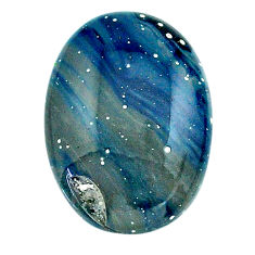 Natural 13.35cts swedish slag blue cabochon 21x15 mm oval loose gemstone s24152