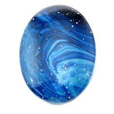 Natural 13.15cts swedish slag blue cabochon 22.5x16.5 mm loose gemstone s24138