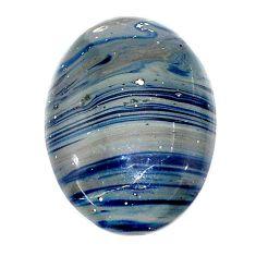 Natural 16.30cts swedish slag blue cabochon 24x17 mm oval loose gemstone s24139