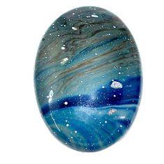 Natural 19.20cts swedish slag blue cabochon 26x18 mm oval loose gemstone s24124
