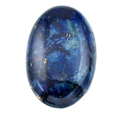 Natural 22.25cts swedish slag blue cabochon 27.5x18 mm loose gemstone s19300