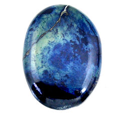 Natural 22.40cts swedish slag blue cabochon 28x20 mm oval loose gemstone s19277