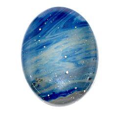 Natural 24.15cts swedish slag blue cabochon 28x21 mm oval loose gemstone s24134