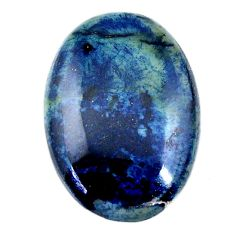 Natural 26.30cts swedish slag blue cabochon 30x21 mm oval loose gemstone s19273
