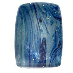 Natural 51.20cts swedish slag blue cabochon 35x23.5 mm loose gemstone s24117