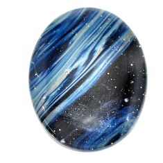 Natural 51.30cts swedish slag blue cabochon 39x29 mm oval loose gemstone s24101