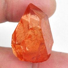Natural 48.45cts tangerine lemurian quartz 27x20 mm fancy loose gemstone s20041