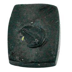 Natural 15.10cts tektite black cabochon 18x14 mm octagan loose gemstone s22056