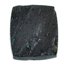 Natural 11.30cts tektite black cabochon 18x15 mm octagan loose gemstone s22021