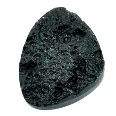 Natural 24.05cts tektite black cabochon 26x20 mm fancy loose gemstone s22047